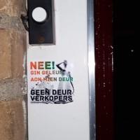 Geen Deur Verkopers - deursticker001_cb2785e8b548704262604a5453fb2e69